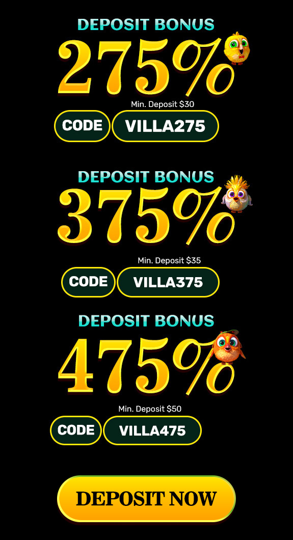 Exclusive Bonus Packages form Slots villa