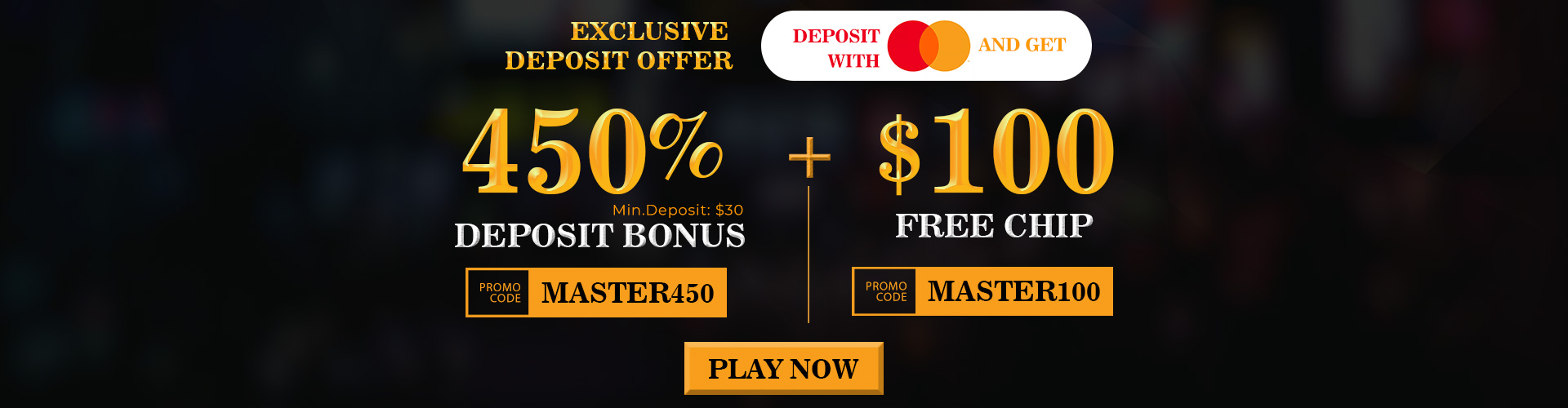 Master Card Promo from Slots Villa
